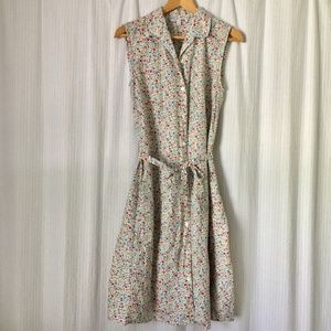 Uniqlo Floral Shirt Dress with Pockets